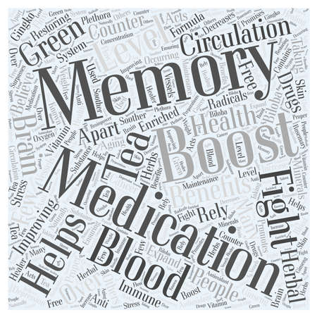 Memory And Your Health word cloud concept