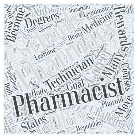 Pharmacy Schools A Closer Look word cloud concept