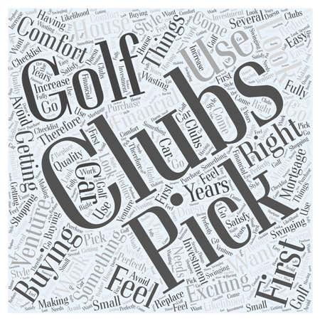 ゴルフ クラブで、右を感じるあなたのための単語雲概念を選ぶ  イラスト・ベクター素材