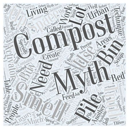 composting: Compost Smells This and Other Composting Myths word cloud concept