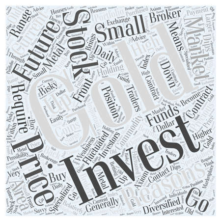 stock Market How to Invest Gold word cloud concept