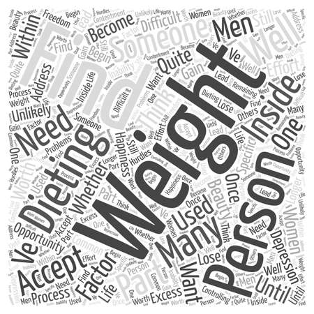 Finding the Beauty Within While Dieting word cloud concept