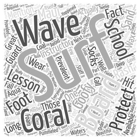 Surf lessons on Maui word cloud concept