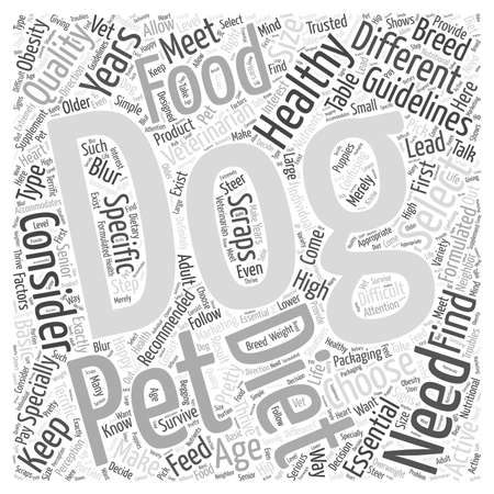 Guidelines to Choose a Healthy Dog Diet for Your Pet word cloud concept
