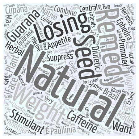 自然の救済を失う重量ガラナ単語雲概念について  イラスト・ベクター素材