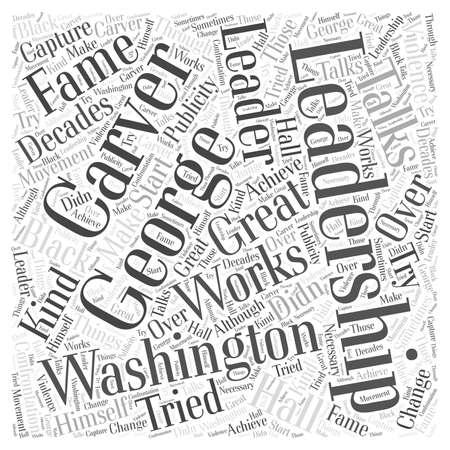 george washington: George Washington Carver word cloud concept Illustration