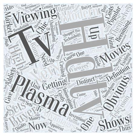 tv unit: plasma hdtv word cloud concept