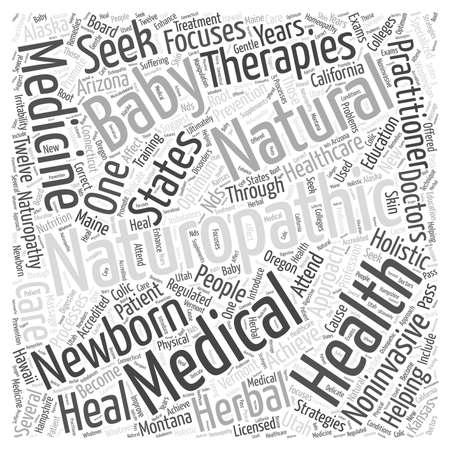 新生児単語雲概念の自然療法ケア  イラスト・ベクター素材