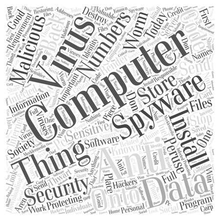 Computer Security word cloud concept Banco de Imagens - 67582123