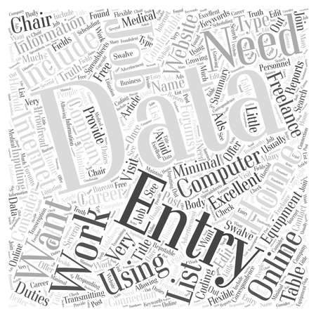 The Truth about Data Entry Work at Home Jobs word cloud concept