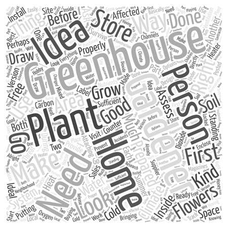 greenhouse gardening word cloud concept
