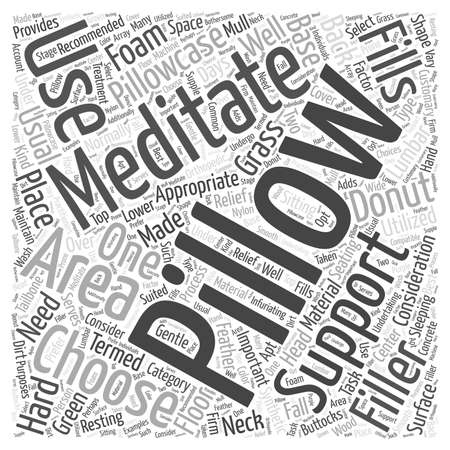 meditation pillow word cloud concept Banco de Imagens - 67582132