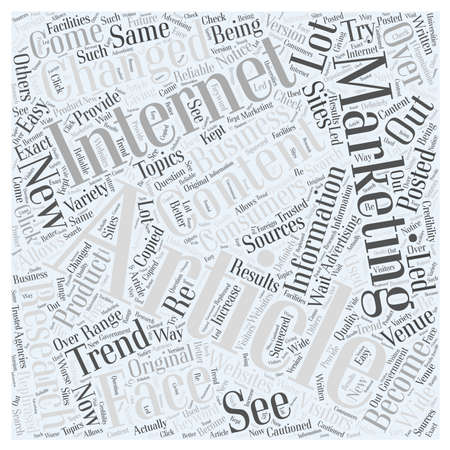 article: How article marketing changed the face of the Internet word cloud concept Illustration