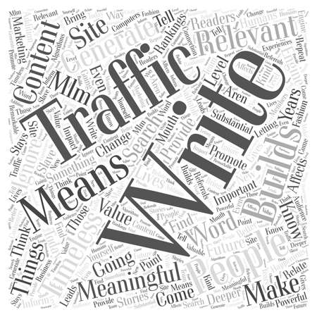 MLM Marketing and Building Traffic for Your Site word cloud concept