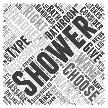 consider: How to Choose Shower Bathroom Accessories word cloud concept