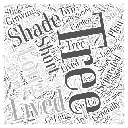 Growing Trees for Shade word cloud concept