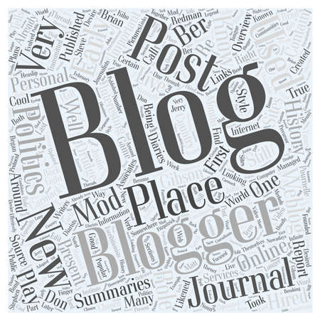 summaries: history of blogging word cloud concept