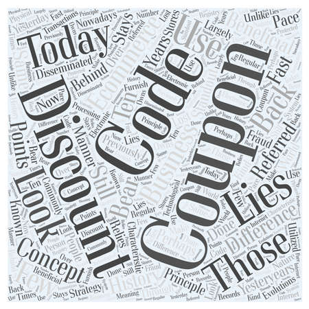 discount coupon codes word cloud concept