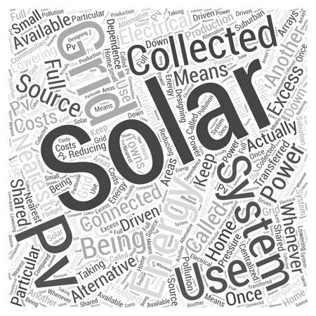 Solar Energy Collecting as Alternative Energy Source word cloud concept
