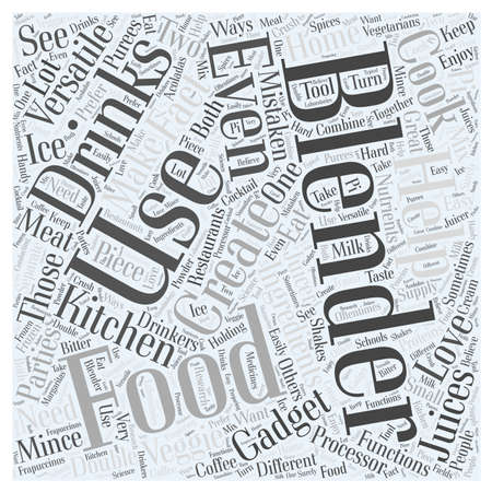 versatile: The versatility of a food and drinks blenders word cloud concept