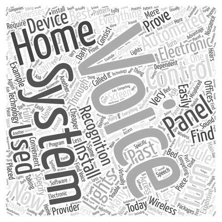 home automation voice recognition word cloud concept