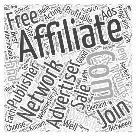 famous affiliate networks word cloud concept
