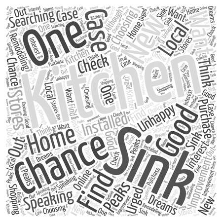 kitchen sink: Kitchen Remodeling Choosing a New Kitchen Sink word cloud concept