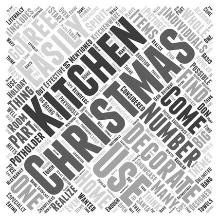 realize: Decorating Your Kitchen for Christmas word cloud concept