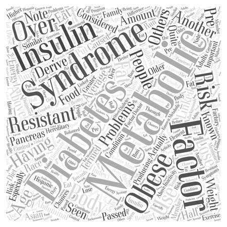 비만 및 당뇨병 단어 구름 개념과 연결된 대사 문제 일러스트