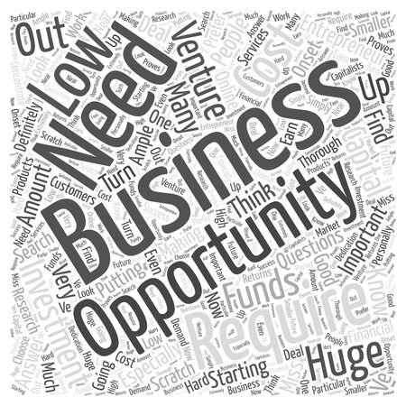 entrepreneur opportunities word cloud concept Ilustrace
