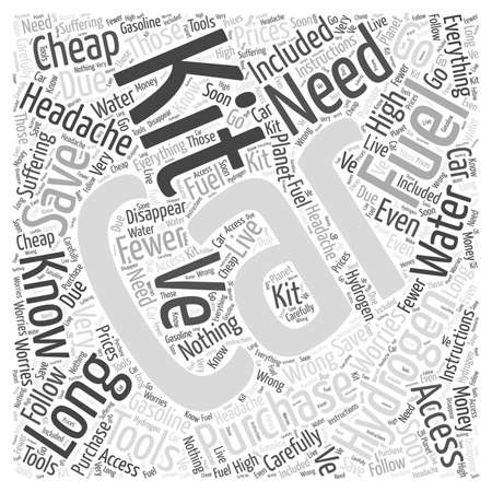 Hydrogen Fuel Cars word cloud concept Ilustração