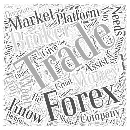 forex trading broker word cloud concept