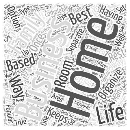 Het organiseren van uw Home Business word cloud concept