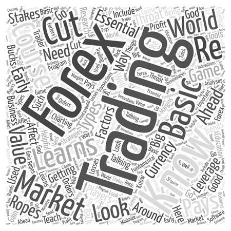 traders: learning forex trading word cloud concept