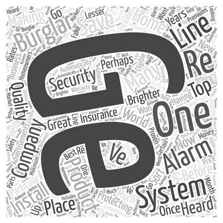 ge burglar alarm word cloud concept