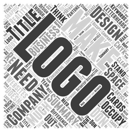 Do you need a logo for your company word cloud concept 向量圖像