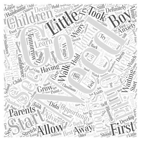 let go: How to let go word cloud concept Illustration