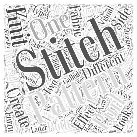 Knitting patterns word cloud concept Illusztráció