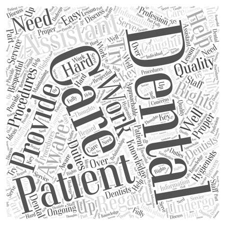 Patient Rights in Regard to Dental Care word cloud concept