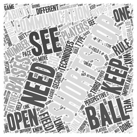 thrown: Techniques for the Shortstop word cloud concept