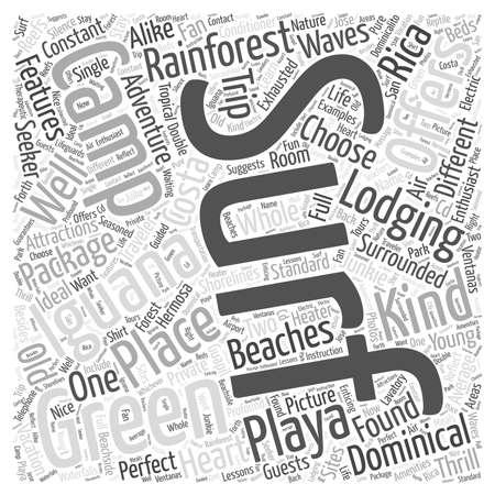 groene leguaan word cloud concept Stock Illustratie