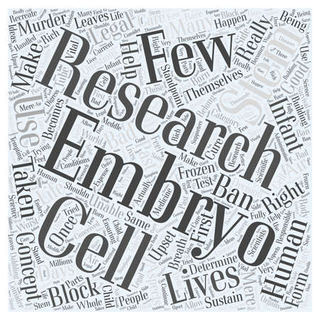 Stem Cell Research word cloud concept Ilustração