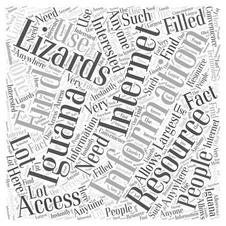 Iguana Lizards word cloud concept