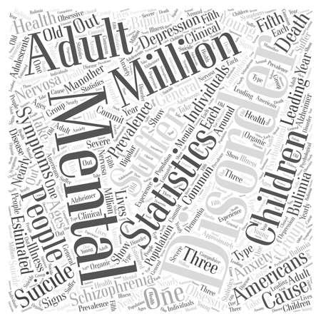 mental health statistics word cloud concept