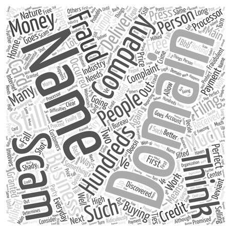 Scam Domain Names word cloud concept
