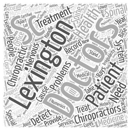 specialize: lexington sc chiropractors word cloud concept