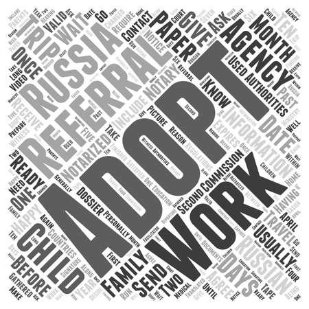 Adoption russe concept de mot de nuage