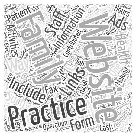 Making the Most of The Family Practice Website word cloud concept