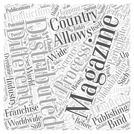 The Science of the Magazine Publishing Process word cloud concept