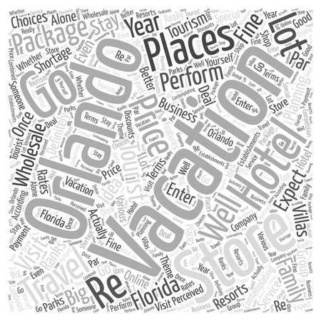 wholesale: The Orlando Vacation Store Tourist Planning word cloud concept
